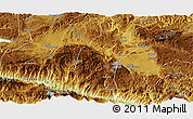 Physical Panoramic Map of Gejiu Shi