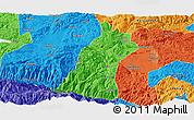 Political Panoramic Map of Gejiu Shi