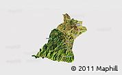 Satellite Panoramic Map of Gejiu Shi, cropped outside