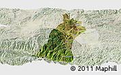 Satellite Panoramic Map of Gejiu Shi, lighten