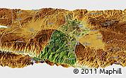 Satellite Panoramic Map of Gejiu Shi, physical outside