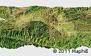 Satellite Panoramic Map of Gejiu Shi