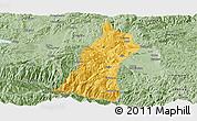 Savanna Style Panoramic Map of Gejiu Shi