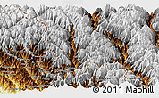 Physical Panoramic Map of Gongshan