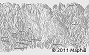 Silver Style Panoramic Map of Gongshan