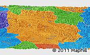 Political Panoramic Map of Guangnan
