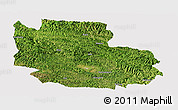 Satellite Panoramic Map of Guangnan, cropped outside