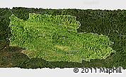 Satellite Panoramic Map of Guangnan, darken