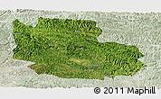 Satellite Panoramic Map of Guangnan, lighten
