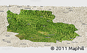 Satellite Panoramic Map of Guangnan, shaded relief outside