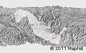 Gray Panoramic Map of Hekou