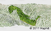Satellite Panoramic Map of Hekou, lighten