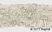 Shaded Relief Panoramic Map of Hekou