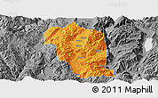 Political Panoramic Map of Heqing, desaturated