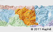 Political Panoramic Map of Heqing, lighten