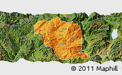 Political Panoramic Map of Heqing, satellite outside