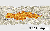 Political Panoramic Map of Honghe, shaded relief outside