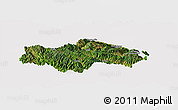 Satellite Panoramic Map of Honghe, cropped outside