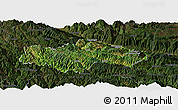 Satellite Panoramic Map of Honghe, darken