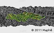 Satellite Panoramic Map of Honghe, desaturated