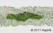 Satellite Panoramic Map of Honghe, lighten