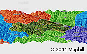 Satellite Panoramic Map of Honghe, political outside