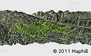 Satellite Panoramic Map of Honghe, semi-desaturated