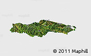 Satellite Panoramic Map of Honghe, single color outside