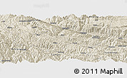 Shaded Relief Panoramic Map of Honghe