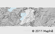 Gray Panoramic Map of Huaning