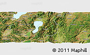 Satellite Panoramic Map of Huaning