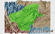 Political Panoramic Map of Huize, semi-desaturated