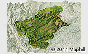 Satellite Panoramic Map of Huize, lighten