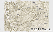 Shaded Relief Panoramic Map of Huize