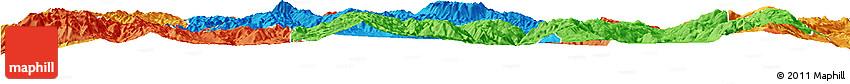 Political Horizon Map of Jianchuan