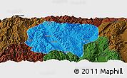 Political Panoramic Map of Jianchuan, darken