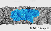 Political Panoramic Map of Jianchuan, desaturated