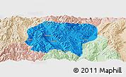 Political Panoramic Map of Jianchuan, lighten