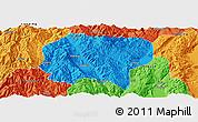 Political Panoramic Map of Jianchuan