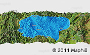Political Panoramic Map of Jianchuan, satellite outside