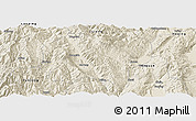 Shaded Relief Panoramic Map of Jianchuan