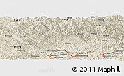 Shaded Relief Panoramic Map of Jiangcheng