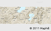 Shaded Relief Panoramic Map of Jiangchuan