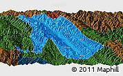Political Panoramic Map of Jingdong, darken