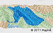 Political Panoramic Map of Jingdong, lighten
