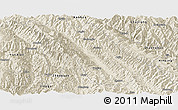 Shaded Relief Panoramic Map of Jingdong