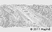 Silver Style Panoramic Map of Jingdong
