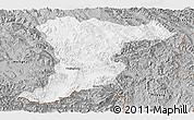 Gray Panoramic Map of Jinghong