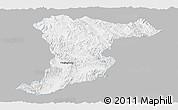 Gray Panoramic Map of Jinghong, single color outside