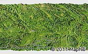 Satellite Panoramic Map of Jinghong